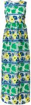 P.A.R.O.S.H. long jacquard layer dress - women - Silk/Cotton/Polyamide/Polyester - XS