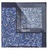 HUGO BOSS Marble-Patterned Italian Silk Pocket Square One Size light pink