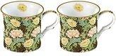 V&A Creative Tops 2-Piece William Morris Chrysanthemum Bone China Mugs, Green