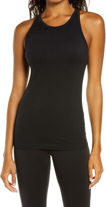 Zella Pure Seamless Ribbed Racerback Tank Top