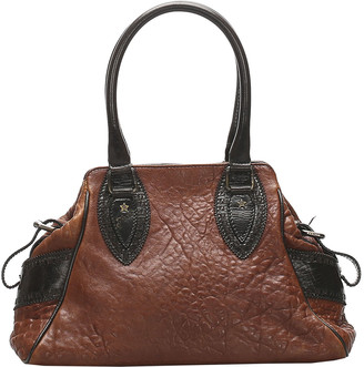 Fendi Brown Leather Etniko Satchel