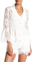Trina Turk Chicas Silk Contrast Lace Blazer