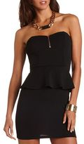 Charlotte Russe Textured Peplum Tube Dress