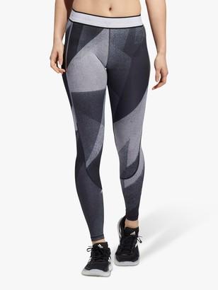 adidas Alphaskin Long Training Tights, Glory Grey/White