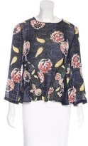 Suno Silk Embroidered Top