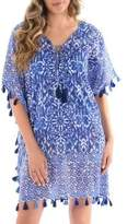 Miraclesuit Tasseled Lace-Up Cotton Caftan