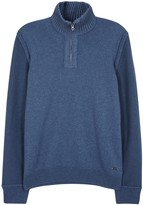 Boss Kwemare Blue Cotton Blend Jumper