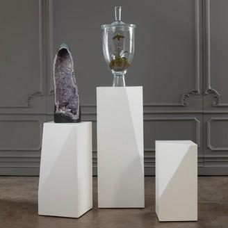 "Global Views Facet Free Form Pedestal Plant Stand Size: 24"" H x 12"" W x 12"" D"