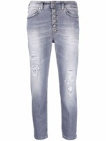 Thumbnail for your product : Dondup Distressed Straight-Leg Cropped Jeans