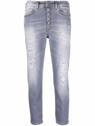 Dondup Distressed Straight-Leg Cropped Jeans