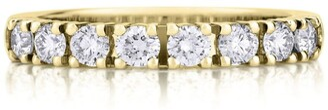 De Beers Yellow Gold Prong-Set Eternity Ring