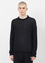 Our Legacy boucle hair black base roundneck