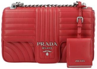 Prada Diagramme Medium Shoulder Bag