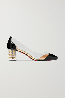Christian Louboutin Gallica 55 Pvc And Patent-leather Pumps - Black