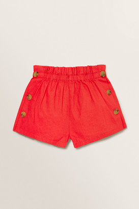 Seed Heritage Linen Button Shorts