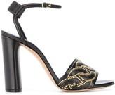Casadei studded detail sandals