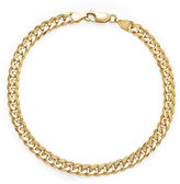 FINE JEWELRY Made in Italy 14K Yellow Gold Solid 8.5 In Curb Link Bracelet