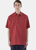 E.tautz Men's Short Sleeved Sports Shirt In Red