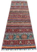"""Blue Area One-of-a-Kind Runner Southwestern Hand-Knotted Runner 2'7"""" x 8' Rug Isabelline"""