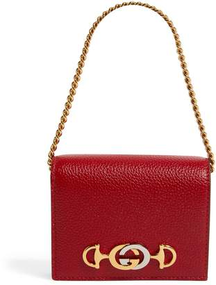 Gucci Leather Zumi Chain Wallet
