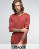 Reclaimed Vintage Jersey Collarless Shirt