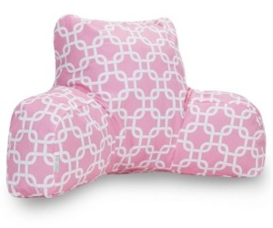 """Majestic Home Goods Links Comfortable Soft Reading Pillow with Removable Cover 33"""" x 18"""""""