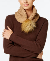 MICHAEL Michael Kors Rib Cable and Faux-Fur Pom Pom Neck Collar