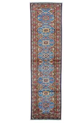 Blue Area Millwood Pines One-of-a-Kind Tillett Super Hand-Knotted Sky Rug Millwood Pines
