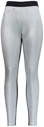 Paco Rabanne Logo Band Lurex Leggings