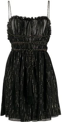 Saint Laurent Metallic-Threading Short Dress