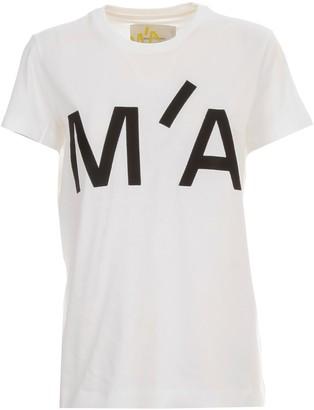 Marques Almeida MarquesAlmeida T-shirt S/s Logo Embroidered Cap Sleeve