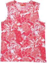 Joe Fresh Women's Floral Print Crew Neck Tank, Pink (Size S)