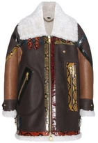 Burberry Shearling-lined Leather And Snakeskin Jacket
