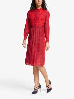 Boden Clemency Retro Shirt Dress, Post Box Red