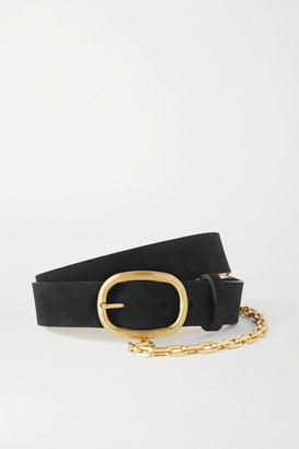 Rag & Bone Wingman Chain-embellished Leather Belt - Black