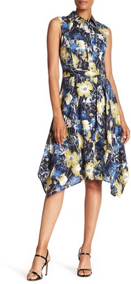 Lafayette 148 New York Moxie Asymmetrical Patterned Dress