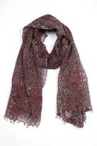 Distinkt Leopard Printed Scarf Red