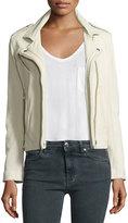 IRO Han Leather Moto Jacket, Vanilla