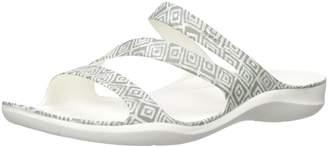 Crocs Women's Swiftwater Graphic Flat Sandal Slide