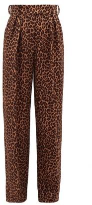 Sara Battaglia Leopard-print Wide-leg Trousers - Womens - Leopard