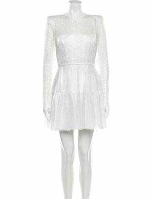 Alex Perry Crew Neck Mini Dress White