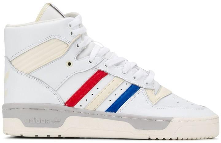 91657ec7b5e4a striped hi-top sneakers