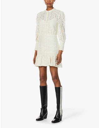 Veronica Beard Hilda lace cotton-blend mini dress