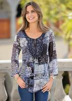 Together Lace Embellishment Tunic