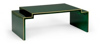 Chelsea House Chatsworth Sled Coffee Table Color: Malachite Green