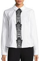Tommy Hilfiger Lace-Trimmed Button-Front Shirt