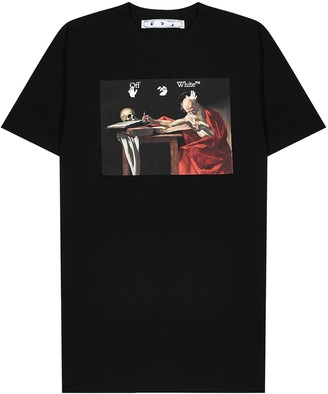 Off-White Caravaggio printed cotton T-shirt