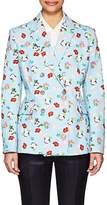 Thom Browne WOMEN'S FLORAL COTTON DOUBLE-BREASTED BLAZER