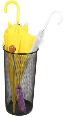 MINDREADER Mind Reader Metal Mesh Umbrella Holder Basket, Black