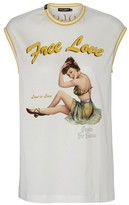 Dolce & Gabbana Printed sleeveless t-shirt
